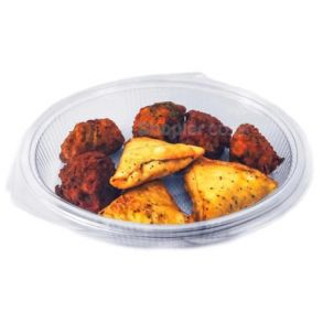 1 Compartment Oval Clear Hinged Container