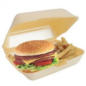 Linpac HP2 Burger & Chips Container