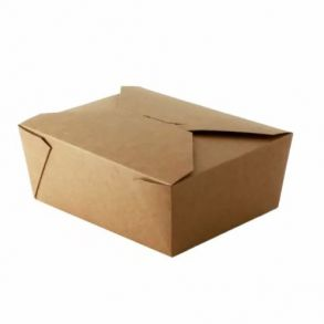 No8 Kraft Biodegradable Leakproof Container