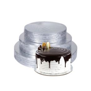8inch Round Double Thick Silver Cake Card