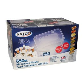 650ml Satco Containers with Lids