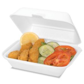 White HP2 Burger & Chips Container