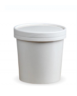 12oz White Soup Container & Lid Combo