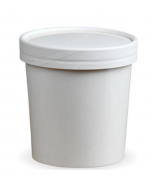 16oz White Soup Container & Lid Combo