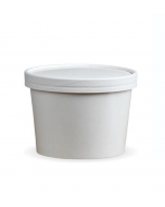 8oz White Soup Container & Lid Combo